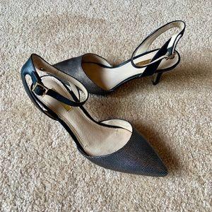 Louise et Cie Ankle strap kitten heels
